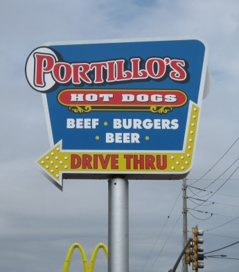Portillo's Hot Dogs sign