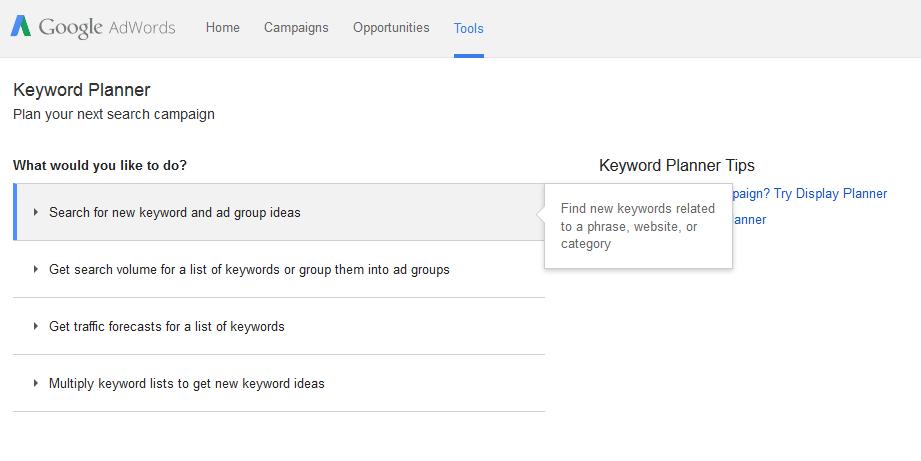 Google Keyword 1